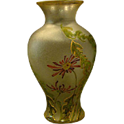French cameo glass Choisy le roi floral tall vase