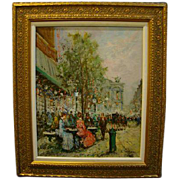 Francois Gerome listed artist French impressionist street scene oil painting