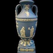 Wedgwood jasperware blue trophy vase hard to find