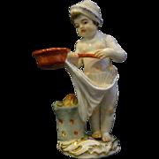 Meissen porcelain figurine cupid angel cooking