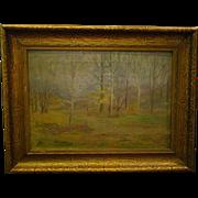Impressionist landscape oil painting 1920's - 30's original frame