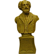 SALE Unusual bronze bust of scholarly gentleman solid casting