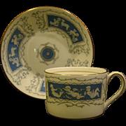Coalport bone china Reverly flat cups and saucers cupids