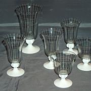 Johans Fors Swedish art glass set of six goblets