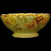 SALE Limoges hand painted roses punch bowl T&V