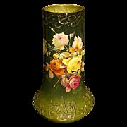 SALE Royal Bonn huge hand painted roses porcelain vase
