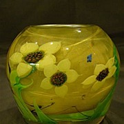 Orient & Flume art glass floral  paperweight vase