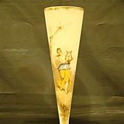 Mount Washington Colonial ware portrait  large trumpet vase