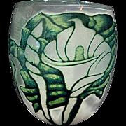 SALE Orrefors graal Eva Englund huge calla lily vase