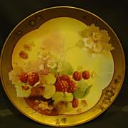 SOLD Pickard hand painted raspberry plate Maxwell Rean Klipphahn