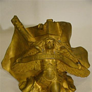 SALE PENDING Gilded bronze lady Liberty sculpture by Arthur Gangand