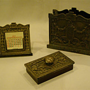 Bradley & Hubbard silverplate partial desk set