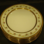 Balmoral china set 8 hand painted roses porcelain plates
