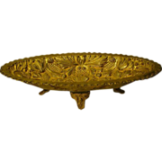 SALE PENDING Gilded brass huge ornate footed center bowl centerpiece