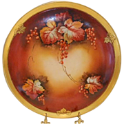 Stunning Limoges/Chicago Studio Hand Painted Tray; Autumn Currants; B. Aikens