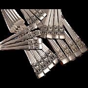 Oneida Community Plate CORONATION Art Deco Silverware Set Vintage 1936 Silver Plate Flatware M