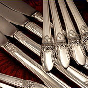 1847 Rogers FIRST LOVE Art Deco Silverware Set Vintage 1937 Silver Plate Flatware Dinner Servi