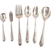 Holmes & Edwards LOVELY LADY Serving Set Vintage 1937 Art Deco Silver Plate Flatware