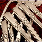 1847 Rogers ADORATION Vintage 1939 ART DECO Silver Plate Silverware Set You Choose Dinner Serv