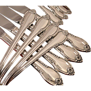 1847 Rogers REMEMBRANCE Silverware Set Vintage 1948 Silver Plate Flatware Dinner Service for 4