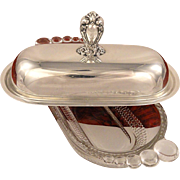 HERITAGE Butter Dish Vintage 1953 Silver Plate Flatware Silverware by 1847 Rogers Bros Interna