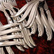 1847 Rogers LEILANI Silverware Set Vintage 1961 Silver Plate Flatware Dinner Service for 4, 8,
