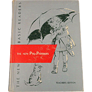 The New Pre-Primers Teacher's Edition Vintage 1956 Scott Foresman Dick and Jane Series School