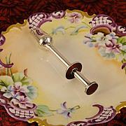 3 Crowns Vintage Olive Picker Grabber Tongs Sweden Silver Plate Unusual Barware Tool