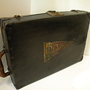 SALE Antique Early 1900's Metal Suitcase, Luggage, Salesman Sample Case