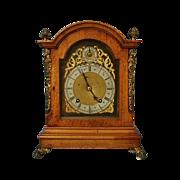 Late 19th Century German Mahogany Bracket Clock by Winterhalder & Hofmier