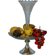 19th Century Dutch 830 Fine Silver & Cut Glass Epergne