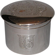 Early 19th Century Old Sheffield Plate Crested Box with Tinned Interior