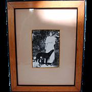 Original Pre-Revolution Photograph of Russian Grand Duchess Olga Alexandrovna with Borzoi and