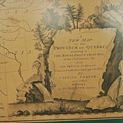18th Century English Map of Quebec from Surveys by Captain Carver & Officers in His Majesty'