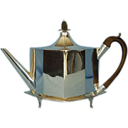 18th Century English Sterling Silver Teapot & Stand by Hester Bateman for George Gray