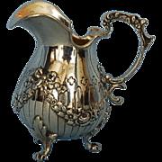 19th Century Hanau 800 Fine Silver Creamer by B. Neresheimer
