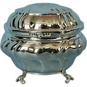 19th Century German 800 Fine Silver Box with Gilt Interior by Osthues