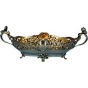Early 20th Century German Art Nouveau 800 Silver Flower or Centerpiece Bowl