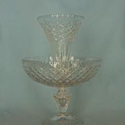 SOLD Early 20th Century Irish or English Cut Glass Ėpergne
