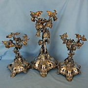 19th Century English Three-piece Silverplate Table Garniture or Dessert Stands by Thomas ...