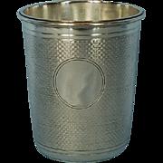 19th Century Viennese 800 Fine Silver Beaker by J.C. Klinkosch