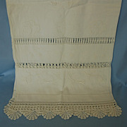 Early 20th Century Imperial Russian Icon Scarf with Embroidered Initials of Grand Duchess Olga
