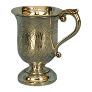 19th Century Anglo-Indian Sterling Silver Mug by Robert Gordon Orr