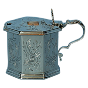 19th Century English Sterling Silver Mustard Pot by George John Richards