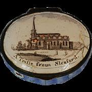 18th Century English Bilston Battersea Enamel Patch Box