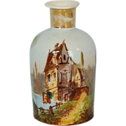 19th Century French Hand-painted Porcelain Perfume Bottle