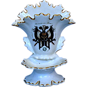 Mid-19th Century German Porcelain Encrier with Jacobs Armorial