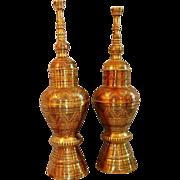 19th Century Pair Brass Kabu