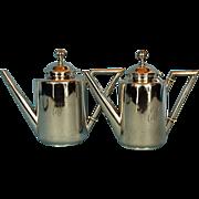 SOLD Portuguese 833 Silver Bachelor Tea & Coffee Pot