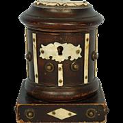 19th Century American Sailor-made Wooden Money Box